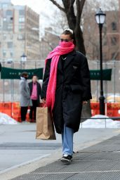 Bella Hadid in Casual Outfit - New York 02/13/2021