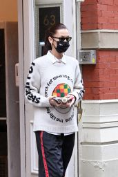 Bella Hadid in Comfy Outfit- Leaving Her Apartment in NYC 02/27/2021