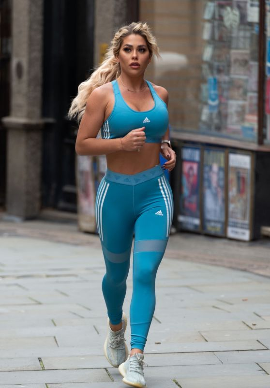 Bianca Gascoigne - Run in London 02/24/2021