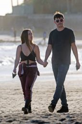 Billie Lourd on the Beach With her Fiance Austen Rydell - Santa Barbara 02/14/2021
