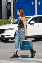 Brooke Burke in Casual Outfit - Shopping in West Hollywood 02/08/2021