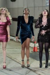 Busy Philipps, Renee Elise Goldsberry, Sarah Bareilles and Paula Pell - Filming Tina Fey