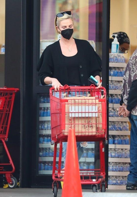 Charlize Theron at Trader Joe in LA 02/04/2021