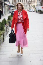 Charlotte Hawkins in Pink Skirt - London 02/12/2021