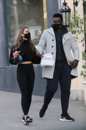 Chrishell Stause and Keo Motsepe - Out in West Hollywood 02/18/2021