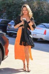 Chrissy Teigen Cute Street Style - Los Angeles 02/24/2021