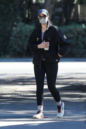 Christina Schwarzenegger in Comfy Outfit - Brentwood 02/22/2021