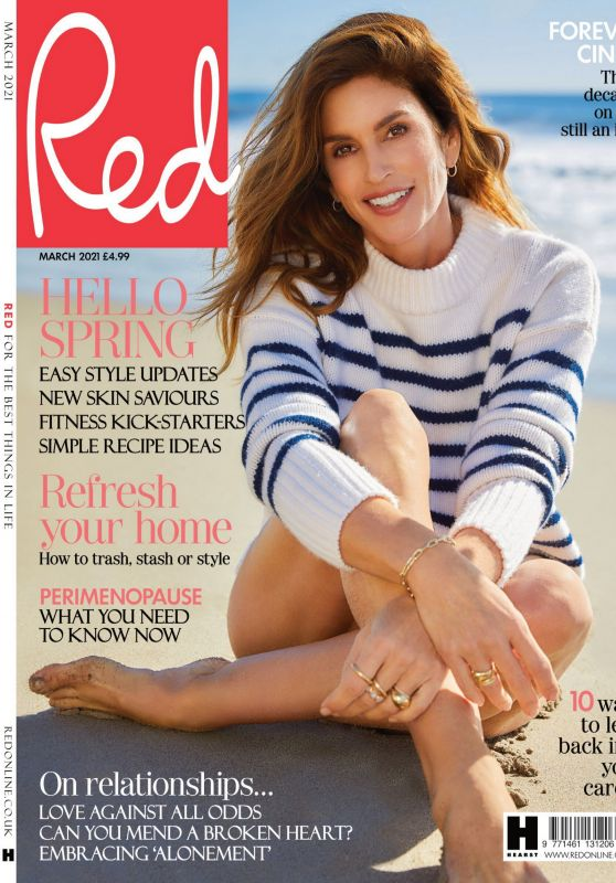 Cindy Crawford - Red Magazine UK March 2021 Issue