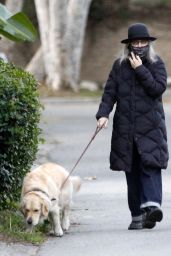 Diane Keaton - Takes Her Dog for a Walk in Brentwood 02/26/2021