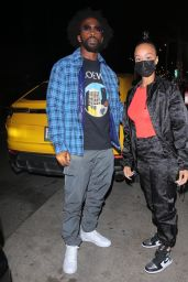 Draya Michele Night Out Style - Mr. Chow in Beverly Hills 02/24/2021