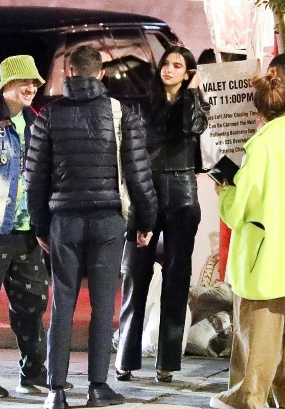 Dua Lipa and Anwar Hadid - Out in Los Angeles 02/14/2021