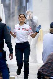 "Eiza Gonzalez - ""Ambulance"" Filming Set in LA 02/03/2021"