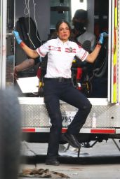 "Eiza Gonzalez - ""Ambulance"" Set in Los Angeles 02/04/2021"