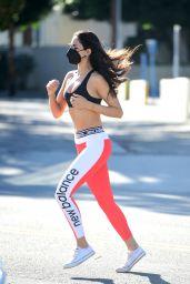 Eiza Gonzalez in Sports Bra and Leggings - West Hollywood 02/02/2021