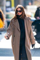 Emily Ratajkowski Street Style - NYC 02/16/2021