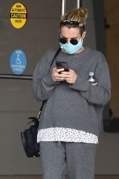 Emma Roberts - Leaving a Meeting in Century City 02/03/2021