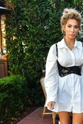 Farrah Abraham in a White Dress and a Black Corset - Pacific Palisades 02/09/2021