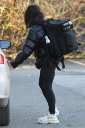 Faye Brookes - Leaving Training in Manchester 02/10/2021