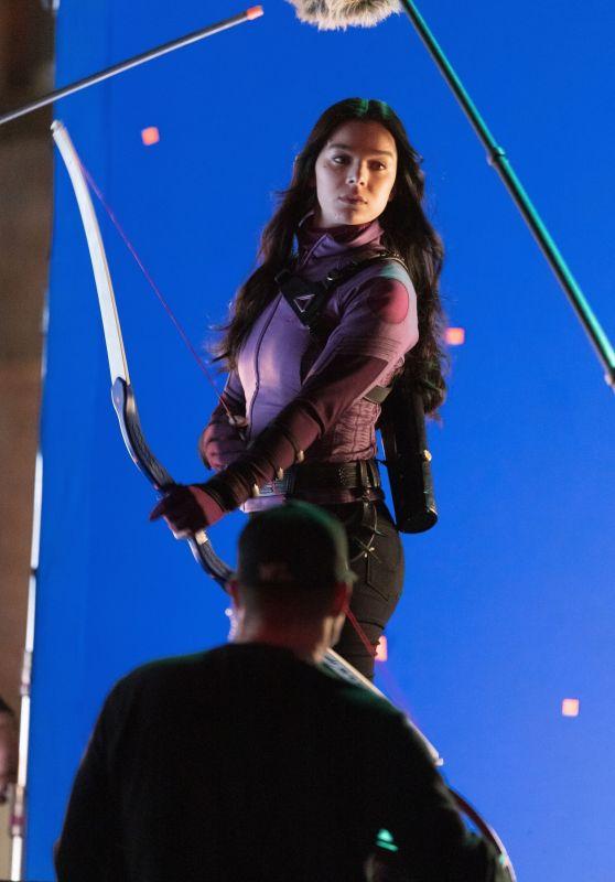 "Hailee Steinfeld - ""Hawkeye"" Filming Set in Atlanta 02/10/2021"