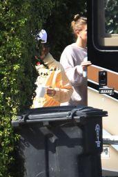Hailey Rhode Bieber and Justin Bieber - Boarding Justin
