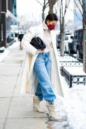 Hailey Rhode Bieber Winter Street Style - New York 02/22/2021