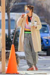Helena Christensen - Morning Stroll in New York 02/20/2021