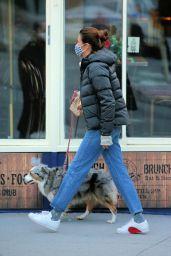 Helena Christensen - Walks Her Dog in NY 02/16/2021