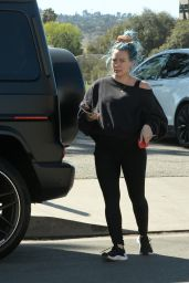 Hilary Duff at a Park in LA 02/20/2021