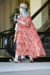 Hilary Duff With Her New Blue Hair - LA 02/25/2021