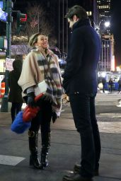"""Hilary Duff - """"Younger"""" Set Filming in New York 02/11/2021"""