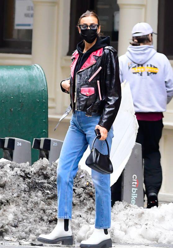 Irina Shayk Looks Stylish - New York 02/16/2021