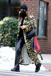 Irina Shayk - Running Errands in the West Village in NY 02/09/2021