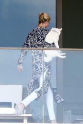 Ivanka Trump on the Balcony of Her Apartment in Miami Beach 02/12/2021