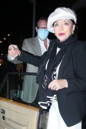 Joan Collins - Out With Her 56-Year Old Husband Percy Gibson in Los Angeles 02/24/2021