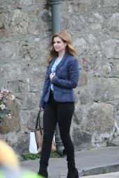 """Joanna Garcia - """"As Luck Would Have It"""" Filming Set in Dublin 02/18/2021"""
