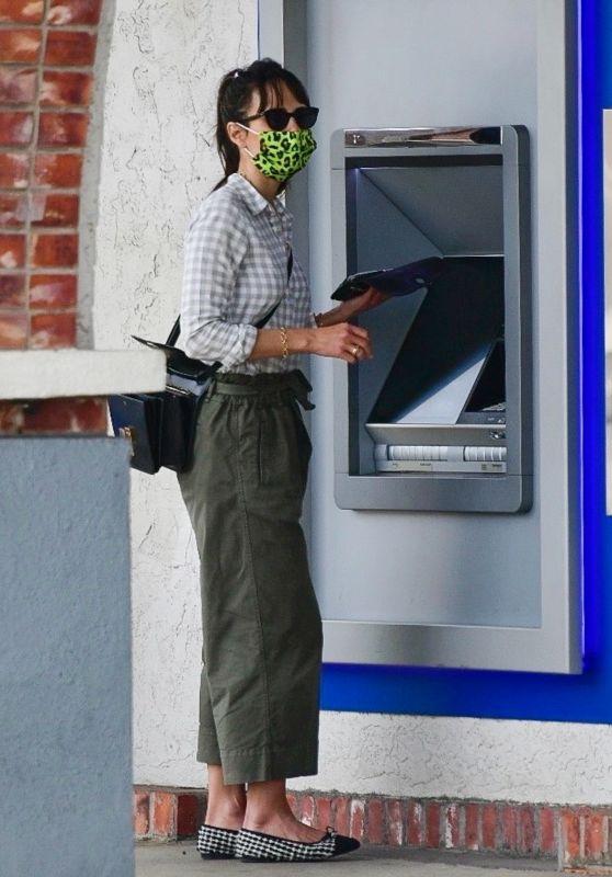Jordana Brewster at an ATM in LA 01/31/2021