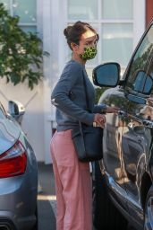 Jordana Brewster at Brentwood Country Mart 02/23/2021