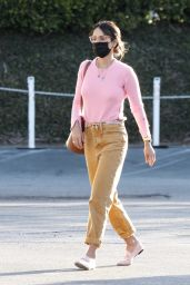 Jordana Brewster in a Pink Top - Brentwood Country Mart 02/26/2021