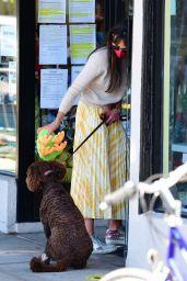 Jordana Brewster - Picking up Endicott in Brentwood 02/21/2021