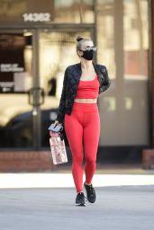 Julianne Hough in Tights - Shopping in LA 01/31/2021