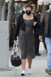 Katharine McPhee and David at Il Pastaio in Beverly Hills 02/15/2021