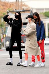 Kendall Jenner and Hailey Rhode Bieber - West Hollywood 02/01/2021