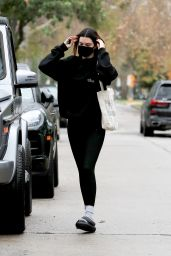 Kendall Jenner in a Black Outfit - West Hollywood 02/01/2021