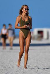 Kimberley Garner in a Green Swimsuit 02/06/2021