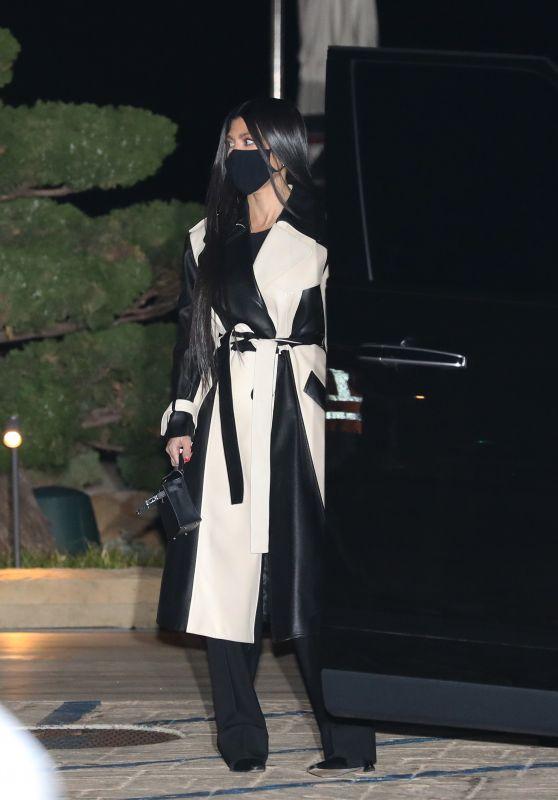 Kourtney Kardashian Night Out Style - Nobu in Malibu 02/08/2021