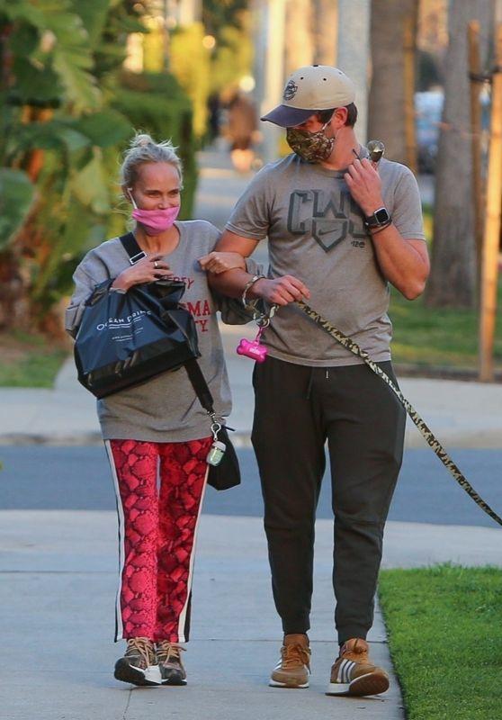 Kristin Chenoweth Go For a Dog Walk in Beverly Hills 02/25/2021