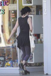 Krysten Ritter in a Purple Leggings in LA 02/23/2021