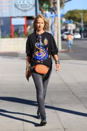 Lady Victoria Hervey Street Style - Out in Los Angeles 02/22/2021