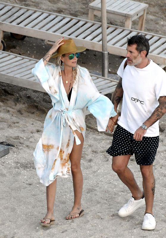Laeticia Hallyday With Jalil Lespert in St. Barths 02/18/2021