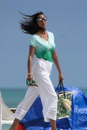Lais Ribeiro - Photoshoot on the Beach in Miami 02/20/2021